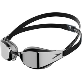 speedo Fastskin Hyper Elite Mirror Goggles, black/oxid grey/chrome